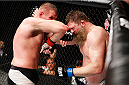 SAITAMA, JAPAN - SEPTEMBER 27:  Josh Barnett of the United States of America throws and elbow at Roy Nelson of the United States of America in their heavyweight bout during the UFC event at the Saitama Super Arena on September 27, 2015 in Saitama, Japan. (Photo by Mitch Viquez/Zuffa LLC/Zuffa LLC via Getty Images)