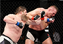 SAITAMA, JAPAN - SEPTEMBER 27: Roy Nelson of the United States of America punches Josh Barnett of the United States of America in their heavyweight bout during the UFC event at the Saitama Super Arena on September 27, 2015 in Saitama, Japan. (Photo by Mitch Viquez/Zuffa LLC/Zuffa LLC via Getty Images)