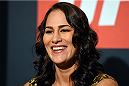 HOUSTON, TX - OCTOBER 01:  Jessica Eye interacts with media during the UFC 192 Ultimate Media Day at the Toyota Center on October 1, 2015 in Houston, Texas. (Photo by Josh Hedges/Zuffa LLC/Zuffa LLC via Getty Images)