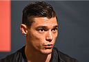 HOUSTON, TX - OCTOBER 01:  Alan Jouban interacts with media during the UFC 192 Ultimate Media Day at the Toyota Center on October 1, 2015 in Houston, Texas. (Photo by Josh Hedges/Zuffa LLC/Zuffa LLC via Getty Images)