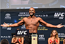 HOUSTON, TX - OCTOBER 02:  Rashad Evans steps on the scale during the UFC 192 weigh-in at the Toyota Center on October 2, 2015 in Houston, Texas. (Photo by Josh Hedges/Zuffa LLC/Zuffa LLC via Getty Images)