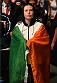 DUBLIN, IRELAND - OCTOBER 24:  Aisling Daly prepares to enter the Octagon before facing Ericka Almeida in their women's strawweight fight during the UFC event at 3Arena on October 24, 2015 in Dublin, Ireland. (Photo by Josh Hedges/Zuffa LLC/Zuffa LLC via Getty Images)