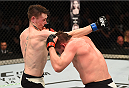 DUBLIN, IRELAND - OCTOBER 24:  (R-L) Nicolas Dalby punches Darren Till in their welterweight fight during the UFC event at 3Arena on October 24, 2015 in Dublin, Ireland. (Photo by Josh Hedges/Zuffa LLC/Zuffa LLC via Getty Images)