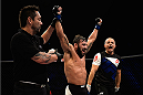 SAO PAULO, BRAZIL - NOVEMBER 07: Jimmie Rivera of the United States celebrates victory over Pedro Munhoz of Brazil in their bantamweight bout during the UFC Fight Night Belfort v Henderson at Ibirapuera Gymnasium on November 7, 2015 in Sao Paulo, Brazil.  (Photo by Buda Mendes/Zuffa LLC/Zuffa LLC via Getty Images)