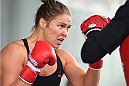 MELBOURNE, AUSTRALIA - NOVEMBER 12:  UFC women's bantamweight champion Ronda Rousey of the United States holds an open workout for fans and media at Federation Square on November 12, 2015 in Melbourne, Australia. (Photo by Josh Hedges/Zuffa LLC/Zuffa LLC via Getty Images)