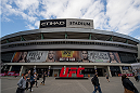MELBOURNE, AUSTRALIA - NOVEMBER 14:  A general view of the stadium prior to the UFC 193 weigh-in at Etihad Stadium on November 14, 2015 in Melbourne, Australia. (Photo by Brandon Magnus/Zuffa LLC/Zuffa LLC via Getty Images)