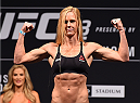 MELBOURNE, AUSTRALIA - NOVEMBER 14: Holly Holm of the United States weighs in during the UFC 193 weigh-in at Etihad Stadium on November 14, 2015 in Melbourne, Australia. (Photo by Josh Hedges/Zuffa LLC/Zuffa LLC via Getty Images)
