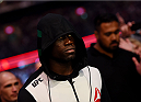 MELBOURNE, AUSTRALIA - NOVEMBER 15:  Uriah Hall walks to the Octagon before fighting against Robert Whittaker (not pictured) in their middleweight bout during the UFC 193 event at Etihad Stadium on November 15, 2015 in Melbourne, Australia.  (Photo by Josh Hedges/Zuffa LLC/Zuffa LLC via Getty Images)