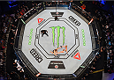 MELBOURNE, AUSTRALIA - NOVEMBER 15:  An overhead view of the Octagon as Holly Holm knocks out Ronda Rousey in their UFC women's bantamweight championship bout during the UFC 193 event at Etihad Stadium on November 15, 2015 in Melbourne, Australia.  (Photo by Josh Hedges/Zuffa LLC/Zuffa LLC via Getty Images)