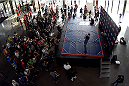 MONTERREY, MEXICO - NOVEMBER 18:  A general view of fans gathering as Diego Sanchez holds an open workout for fans and media at Nave Lewis-Parque Fundidora on November 18, 2015 in Monterrey, Mexico. (Photo by Jeff Bottari/Zuffa LLC/Zuffa LLC via Getty Images)