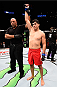 MONTERREY, MEXICO - NOVEMBER 21:  Alvaro Herrera of Mexico celebrates after his knockout victory over Vernon Ramos of Panama in their welterweight bout during the UFC Fight Night event at Arena Monterrey on November 21, 2015 in Monterrey, Mexico.  (Photo by Jeff Bottari/Zuffa LLC/Zuffa LLC via Getty Images)