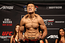 SEOUL, SOUTH KOREA - NOVEMBER 27: Dongi Yang during the UFC Fight Night weigh-in at the Olympic Park Gymnastics Arena on November 27, 2015 in Seoul, South Korea. (Photo by Mitch Viquez/Zuffa LLC/Zuffa LLC via Getty Images)