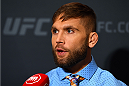 LAS VEGAS, NV - DECEMBER 09:  Jeremy Stephens interacts with media during the UFC Ultimate Media Day at MGM Grand Hotel & Casino on December 9, 2015 in Las Vegas, Nevada.  (Photo by Josh Hedges/Zuffa LLC/Zuffa LLC via Getty Images)