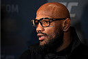 LAS VEGAS, NV - DECEMBER 09:  Yoel Romero of Cuba interacts with media during the UFC Ultimate Media Day at MGM Grand Hotel & Casino on December 9, 2015 in Las Vegas, Nevada.  (Photo by Josh Hedges/Zuffa LLC/Zuffa LLC via Getty Images)