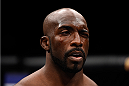 LAS VEGAS, NEVADA - DECEMBER 10:  Kevin Casey recovers from his eye poke in his middleweight bout with Antonio Carlos Junior during the UFC Fight Night event at The Chelsea at the Cosmopolitan of Las Vegas on December 10, 2015 in Las Vegas, Nevada.  (Photo by Jeff Bottari/Zuffa LLC/Zuffa LLC via Getty Images)