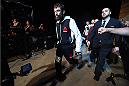 LAS VEGAS, NEVADA - DECEMBER 10:  Michael Chiesa enters the arena for his lightweight bout against Jim Miller during the UFC Fight Night event at The Chelsea at the Cosmopolitan of Las Vegas on December 10, 2015 in Las Vegas, Nevada.  (Photo by Jeff Bottari/Zuffa LLC/Zuffa LLC via Getty Images)