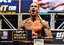 LAS VEGAS, NV - DECEMBER 11:   Yancy Medeiros weighs in during the UFC 194 weigh-in inside MGM Grand Garden Arena on December 10, 2015 in Las Vegas, Nevada.  (Photo by Josh Hedges/Zuffa LLC/Zuffa LLC via Getty Images)