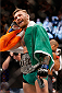 LAS VEGAS, NV - DECEMBER 12:  Conor McGregor of Ireland reacts to his victory over Jose Aldo of Brazil in their UFC featherweight championship bout during the UFC 194 event inside MGM Grand Garden Arena on December 12, 2015 in Las Vegas, Nevada.  (Photo by Christian Petersen/Zuffa LLC/Zuffa LLC via Getty Images) *** Local Caption *** Conor McGregor