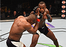 ORLANDO, FL - DECEMBER 19:   (R-L) Leon Edwards punches Kamaru Usman in their welterweight bout during the UFC Fight Night event at the Amway Center on December 19, 2015 in Orlando, Florida. (Photo by Josh Hedges/Zuffa LLC/Zuffa LLC via Getty Images)