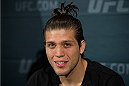 LAS VEGAS, NEVADA - DECEMBER 31:  Brian Ortega speaks to the media during the Ultimate Media Day at the MGM Grand Hotel/Casino on December 31, 2015 in Las Vegas Nevada. (Photo by Brandon Magnus/Zuffa LLC/Zuffa LLC via Getty Images)