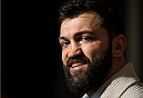 LAS VEGAS, NEVADA - DECEMBER 31:  Andrei Arlovski speaks to the media during the Ultimate Media Day at the MGM Grand Hotel/Casino on December 31, 2015 in Las Vegas Nevada. (Photo by Brandon Magnus/Zuffa LLC/Zuffa LLC via Getty Images)
