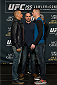 LAS VEGAS, NEVADA - DECEMBER 31:  (L-R) Dustin Poirier and Joe Duffey face off during the Ultimate Media Day at the MGM Grand Hotel/Casino on December 31, 2015 in Las Vegas Nevada. (Photo by Brandon Magnus/Zuffa LLC/Zuffa LLC via Getty Images)