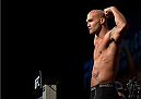 LAS VEGAS, NEVADA - JANUARY 01:  UFC welterweight champion Robbie Lawler steps on the scale during the UFC 195 weigh-ins at the MGM Grand Hotel/Casino on January 1, 2016 in Las Vegas Nevada. (Photo by Brandon Magnus/Zuffa LLC/Zuffa LLC via Getty Images)