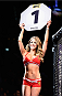 LAS VEGAS, NV - JANUARY 02: Octagon Girl Brittney Palmer introduces round one of Noke vs Morono during the UFC 195 event inside MGM Grand Garden Arena on January 2, 2016 in Las Vegas, Nevada.  (Photo by Jeff Bottari/Zuffa LLC/Zuffa LLC via Getty Images)
