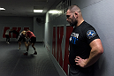 SAN JOSE, CA - JANUARY 05:  Cain Velasquez works out during a media day at American Kickboxing Academy on January 5, 2016 in San Jose, California.  (Photo by Brandon Magnus/Zuffa LLC/Zuffa LLC via Getty Images)