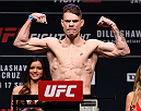 BOSTON, MA - JANUARY 16:  Paul Felder weighs in during the UFC weigh-in at the Wang Theatre on January 16, 2016 in Boston, Massachusetts. (Photo by Jeff Bottari/Zuffa LLC/Zuffa LLC via Getty Images)