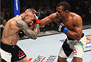 BOSTON, MA - JANUARY 17:  (R-L) Francisco Trinaldo of Brazil punches Ross Pearson of England in their lightweight bout during the UFC Fight Night event inside TD Garden on January 17, 2016 in Boston, Massachusetts. (Photo by Jeff Bottari/Zuffa LLC/Zuffa LLC via Getty Images)