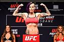 BRISBANE, AUSTRALIA - MARCH 19:  Bec Rawlings of Australia weighs in weighs in during the UFC Fight Night weigh-in at the Brisbane Entertainment Centre on March 19, 2016 in Brisbane, Australia. (Photo by Josh Hedges/Zuffa LLC/Zuffa LLC via Getty Images)
