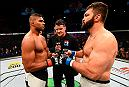 ROTTERDAM, NETHERLANDS - MAY 08:  (L-R) Alistair Overeem and Andrei Arlovski face off in their heavyweight bout during the UFC Fight Night event at Ahoy Rotterdam on May 8, 2016 in Rotterdam, Netherlands. (Photo by Josh Hedges/Zuffa LLC/Zuffa LLC via Getty Images)