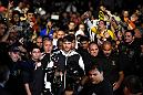 CURITIBA, BRAZIL - MAY 14:  Stipe Miocic enters the arena before facing Fabricio Werdum of Brazil in their UFC heavyweight championship bout during the UFC 198 event at Arena da Baixada stadium on May 14, 2016 in Curitiba, Parana, Brazil.  (Photo by Josh Hedges/Zuffa LLC/Zuffa LLC via Getty Images)