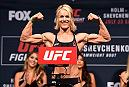 CHICAGO, IL - JULY 22:   Felice Herrig poses on the scale during the UFC weigh-in at the United Center on July 22, 2016 in Chicago, Illinois. (Photo by Josh Hedges/Zuffa LLC/Zuffa LLC via Getty Images)