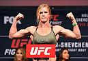 CHICAGO, IL - JULY 22:   Holly Holm poses on the scale during the UFC weigh-in at the United Center on July 22, 2016 in Chicago, Illinois. (Photo by Josh Hedges/Zuffa LLC/Zuffa LLC via Getty Images)