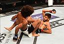 SALT LAKE CITY, UT - AUGUST 06:  (L-R) Alex Caceres and Yair Rodriguez of Mexico scramble in their featherweight bout during the UFC Fight Night event at Vivint Smart Home Arena on August 6, 2016 in Salt Lake City, Utah. (Photo by Jeff Bottari/Zuffa LLC/Zuffa LLC via Getty Images)