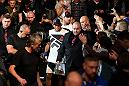 MANCHESTER, ENGLAND - OCTOBER 08:  Dan Henderson prepares to enter the Octagon before facing Michael Bisping of England in their UFC middleweight championship bout during the UFC 204 Fight Night at the Manchester Evening News Arena on October 8, 2016 in Manchester, England. (Photo by Josh Hedges/Zuffa LLC/Zuffa LLC via Getty Images)