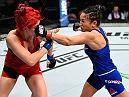 HALIFAX, NS - FEBRUARY 19:  (R-L) Carla Esparza punches Randa Markos of Iraq in their women's strawweight fight during the UFC Fight Night event inside the Scotiabank Centre on February 19, 2017 in Halifax, Nova Scotia, Canada. (Photo by Josh Hedges/Zuffa LLC/Zuffa LLC via Getty Images)