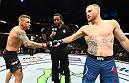 Both of Justin Gaethje's UFC fights were Fight of the Year contenders, and the hometown Arizona crowd could feel a third in the air when he touched gloves with Dustin Poirier. (Photo by Josh Hedges/Zuffa LLC)
