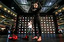 Diego Rivas at the UFC Chile open workouts