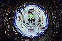 LAS VEGAS, NV - JULY 07: An overhead view of Khalil Rountree Jr. celebrating his win over Gokhan Saki of Turkey in their light heavyweight fight during the UFC 226 event inside T-Mobile Arena on July 7, 2018 in Las Vegas, Nevada.  (Photo by Josh Hedges/Zuffa LLC)