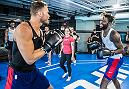 LAS VEGAS, 7/10/18 - NBA players from the Detroit Pistons training at the UFC Perfomance Institute with UFC fighters Donald Cerrone, and Jessica-Rose Clark. (Photo credit: Juan Cardenas)
