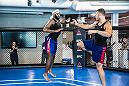 LAS VEGAS, 7/10/18 - NBA players from the Detroit Pistons training at the UFC Perfomance Institute with UFC fighters Donald Cerrone, Gina Mazany and Jessica-Rose Clark. (Photo credit: Juan Cardenas)