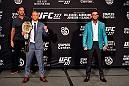 LOS ANGELES, CA - AUGUST 02:  (L-R) Opponents TJ Dillashaw and Cody Garbrandt pose for media during the UFC 227 Ultimate Media Day at Sheraton Grand Los Angeles on August 2, 2018 in Los Angeles, California. (Photo by Jeff Bottari/Zuffa LLC/Zuffa LLC via Getty Images)
