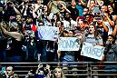 LAS VEGAS, NV - JULY 05:  Fans cheer in support of Ronda Rousey during the UFC Hall of Fame Class of 2018 Induction Ceremony inside The Pearl concert theater at Palms Casino Resort on July 5, 2018 in Las Vegas, Nevada. (Photo by Brandon Magnus/Zuffa LLC/Zuffa LLC via Getty Images)