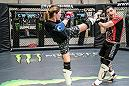 LAS VEGAS 8/9/18 - UFC Fighter Joanne Calderwood during sparring session at Syndicate MMA Gym in Las Vegas, preparing for UFC Lincoln. (Photo credit: Juan Cardenas)