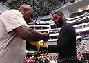 DALLAS, TX - SEPTEMBER 05:   Tyron Woodley works out for fans and media during the UFC 228 open workouts on September 5, 2018 in Dallas, Texas. (Photo by Josh Hedges/Zuffa LLC/Zuffa LLC via Getty Images)