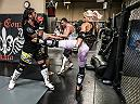 LAS VEGAS 8/21/18 - UFC Bantamweight Yana Kunitskaya during sparring session at XTreme Couture MMA gym in Las Vegas, in preparation for her fight at UFC229. (Photo credit Juan Cardenas)