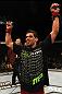 UFC 130: Renan Barao celebrates his win